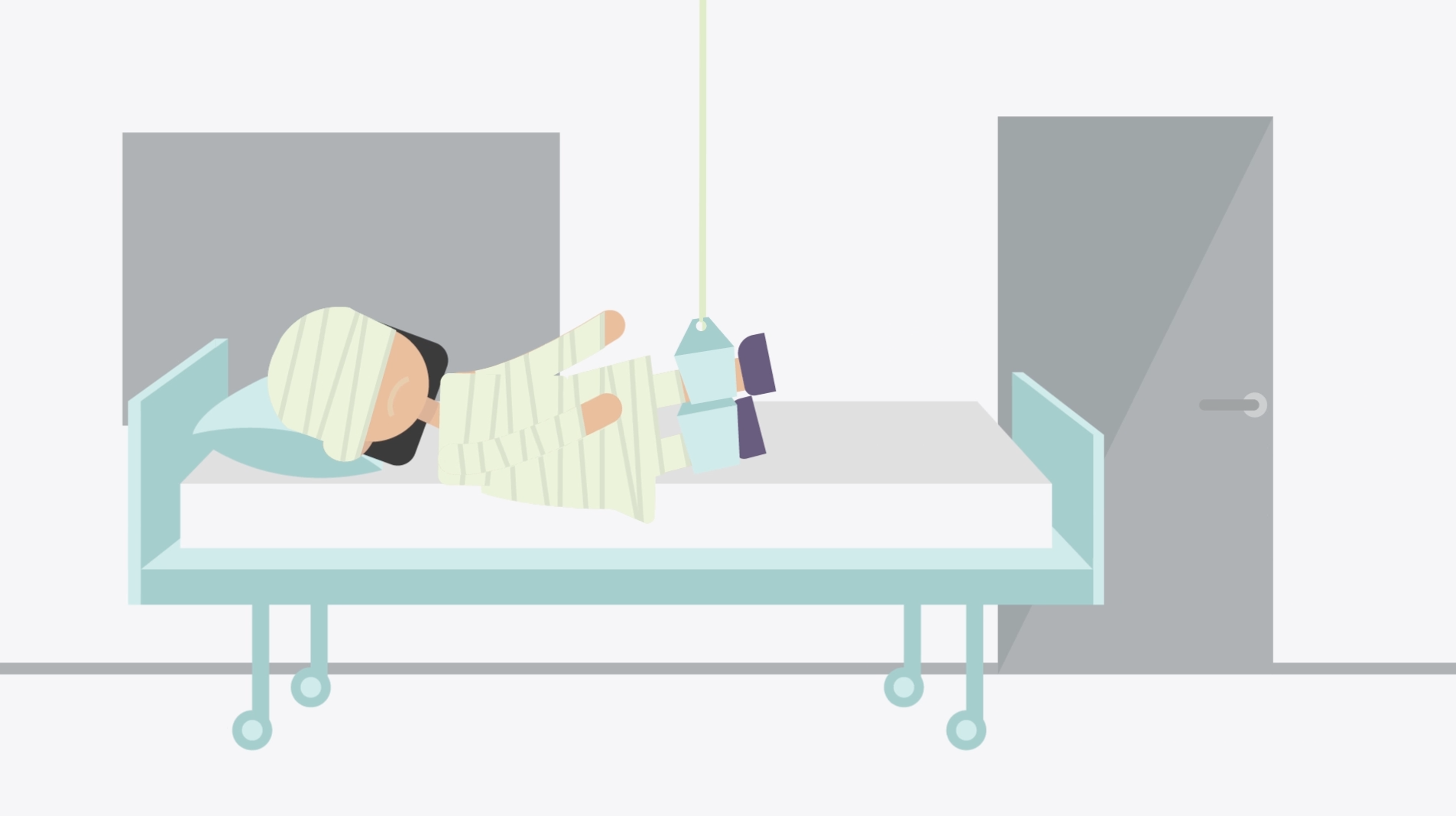 This is an animated video explaining a monthly premium to cover healthcare needs.